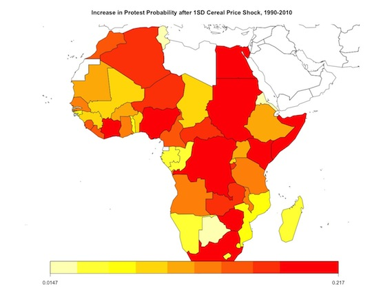 Protest Propensity in Africa, 1990-2010